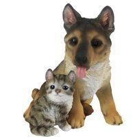 Esschert Design Hund und Katze Sitzend 15,4×15,4×18,5 cm