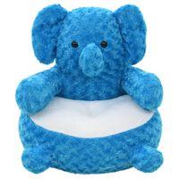 vidaXL Elefant Kuscheltier Plüsch Blau