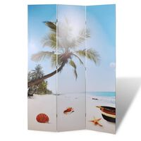 vidaXL Raumteiler klappbar 240 x 170 cm Strand