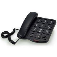 Profoon Schreibtischtelefon Große Tasten Schwarz Kunststoff TX-575