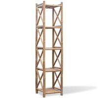 Bambus Regal 5-etagig viereckig