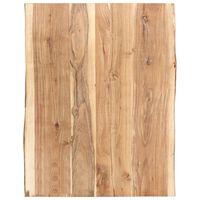 vidaXL Tischplatte Massivholz Akazie 80x(50-60)x3,8 cm
