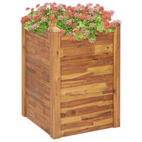 vidaXL Garten-Hochbeet 60 x 60 x 84 cm Massivholz Akazie