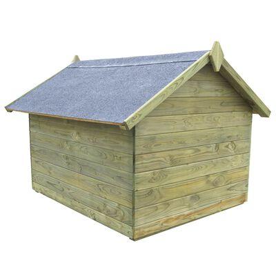 vidaXL Hundehütte mit Dach Imprägniertes Kiefernholz