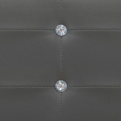 vidaXL Bettrahmen Grau Kunstleder 120 x 200 cm