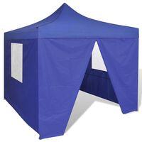 vidaXL Faltzelt mit 4 Wänden 3 x 3 m Blau