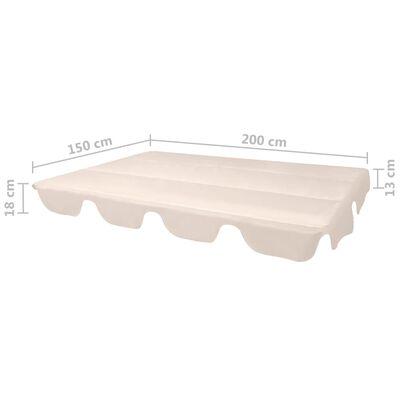 vidaXL Ersatzdach für Gartenschaukel Beige 226x186 cm