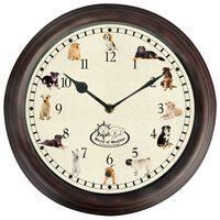 Esschert Design Uhr mit Hundegeräuschen