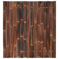vidaXL Gartenzaun-Element Bambus 120x125 cm Dunkelbraun