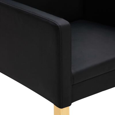 vidaXL Esszimmerstühle 4 Stk. Schwarz Kunstleder