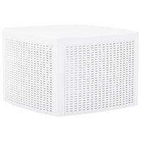 vidaXL Beistelltisch Weiß 54×54×36,5 cm Kunststoff