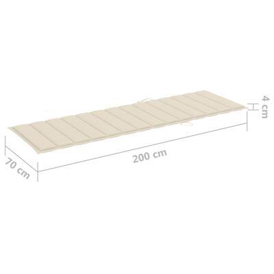 vidaXL Sonnenliege mit Auflage Akazie Massivholz Verzinkter Stahl