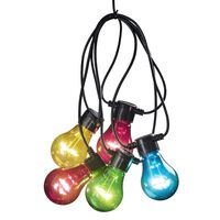 KONSTSMIDE Party-Lichterkette mit 10 Lampen Starter-Set Mehrfarbig