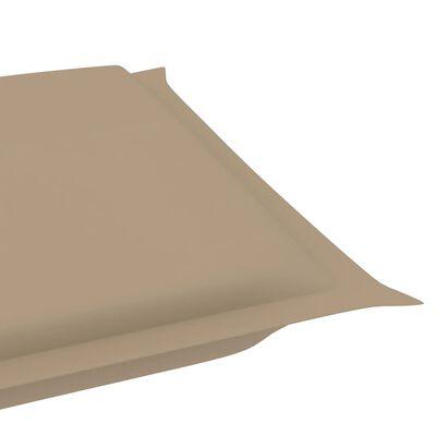 vidaXL Sonnenliegen-Auflage Beige 186x58x4 cm