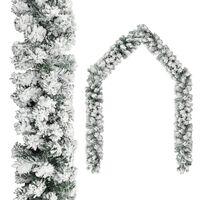 vidaXL Weihnachtsgirlande mit Schnee Grün 20 m PVC
