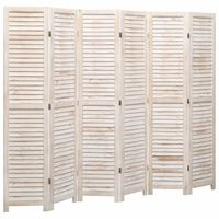 vidaXL 6-tlg. Raumteiler Weiß 210×165 cm Holz