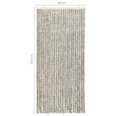 vidaXL Insektenschutz-Vorhang Hell- und Dunkelgrau 90x220 cm Chenille