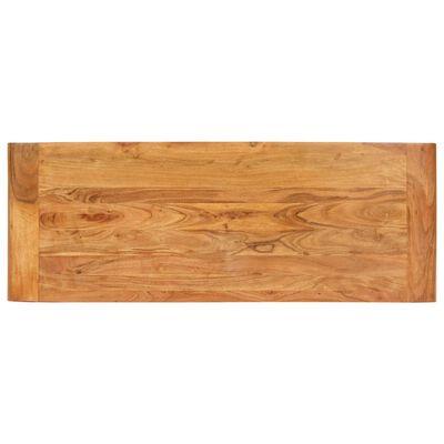 vidaXL Konsolentisch 110x40x76 cm Akazie Massivholz Palisander-Finish