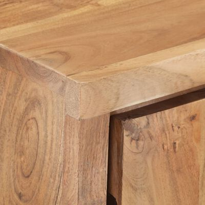 vidaXL Sideboard 60x36x76 cm Akazie Massivholz mit Naturkanten