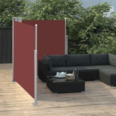 vidaXL Ausziehbare Seitenmarkise Braun 140 x 600 cm