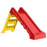 vidaXL Faltbare Rutsche für Kinder Indoor Outdoor Rot und Gelb