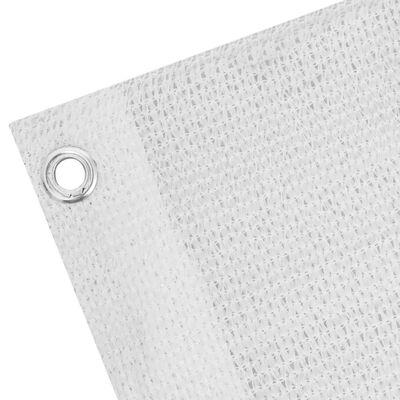 vidaXL Balkonsichtschutz HDPE 75x600 cm weiß