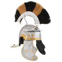 vidaXL Römischer Soldaten-Helm Antik Replik für LARP Silbern Stahl