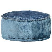 vidaXL Pouf Rund Samt 40×20 cm Blau