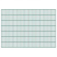 vidaXL 2D Gartenzaun-Elemente 2,008x1,43 m Gesamtlänge 18 m Grün