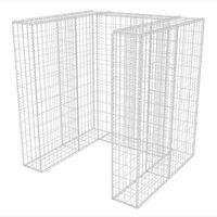 vidaXL Gabionen-Mülltonnenverkleidung für 1 Tonne Stahl 110x100x120cm