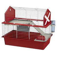 Ferplast Kaninchenkäfig Barn 80 78x48x65 cm Rot