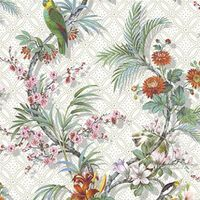 DUTCH WALLCOVERINGS Tapete Tropical Weiß