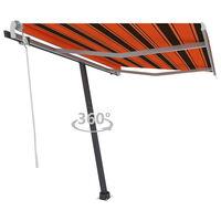 vidaXL Standmarkise Einziehbar Handbetrieben 300x250 cm Orange/Braun