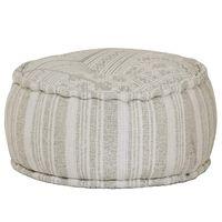 vidaXL Sitzpuff Rund Baumwolle mit Muster Handgefertigt 50x25 cm Grün
