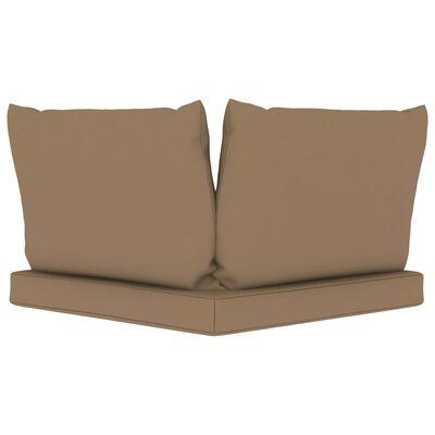 vidaXL Garten-Palettensofa 2-Sitzer mit Kissen Taupe Kiefernholz