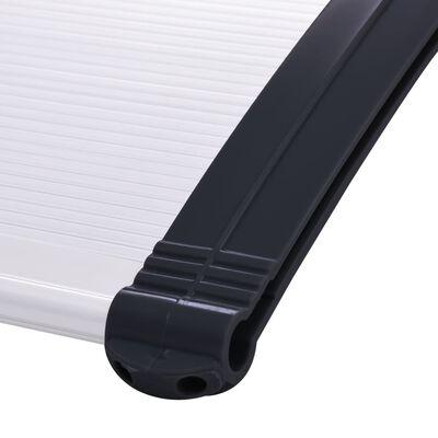 vidaXL Türvordach Schwarz und Transparent 120×80 cm PC