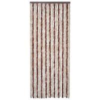 vidaXL Insektenschutz-Vorhang Beige und Hellbraun 120x220 cm Chenille