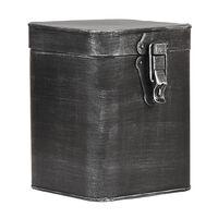 LABEL51 Aufbewahrungsbox 15x16x19 cm L Antik-Schwarz