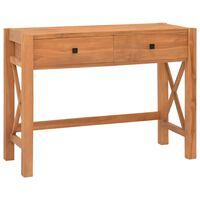 vidaXL Schreibtisch mit 2 Schubladen 100x40x75 cm Recyceltes Teak