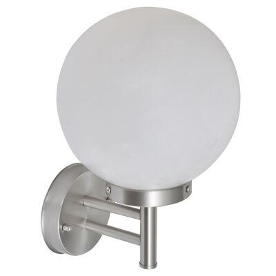 Kugelförmige Edelstahl-Wandlampe Wandleuchte