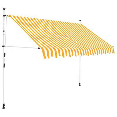 vidaXL Einziehbare Markise Handbetrieben 300 cm Gelb/Weiß Gestreift
