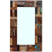 vidaXL Spiegel Altholz 80x50 cm