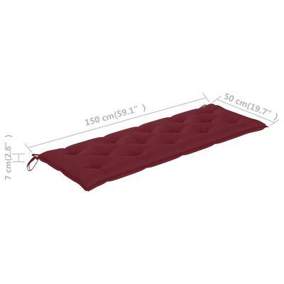 vidaXL Auflage für Hollywoodschaukel Weinrot 150 cm Stoff