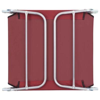 vidaXL Klappliegen 2 Stk. Stahl und Stoff Rot