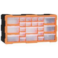 vidaXL Multi-Schubladen-Organizer mit 22 Schubladen 49x16x25,5 cm
