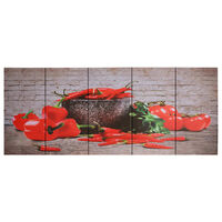 vidaXL Leinwandbild-Set Paprika Mehrfarbig 150×60 cm