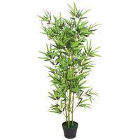 vidaXL Künstliche Bambuspflanze mit Topf 120 cm Grün