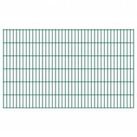 vidaXL 2D Gartenzaun-Elemente 2,008x1,23 m Gesamtlänge 18 m Grün