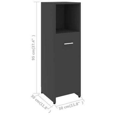 vidaXL Badezimmerschrank Grau 30x30x95 cm Spanplatte