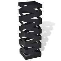 Schirmständer Schirmhalter Gehstock Stahl schwarz quadratisch 48,5 cm